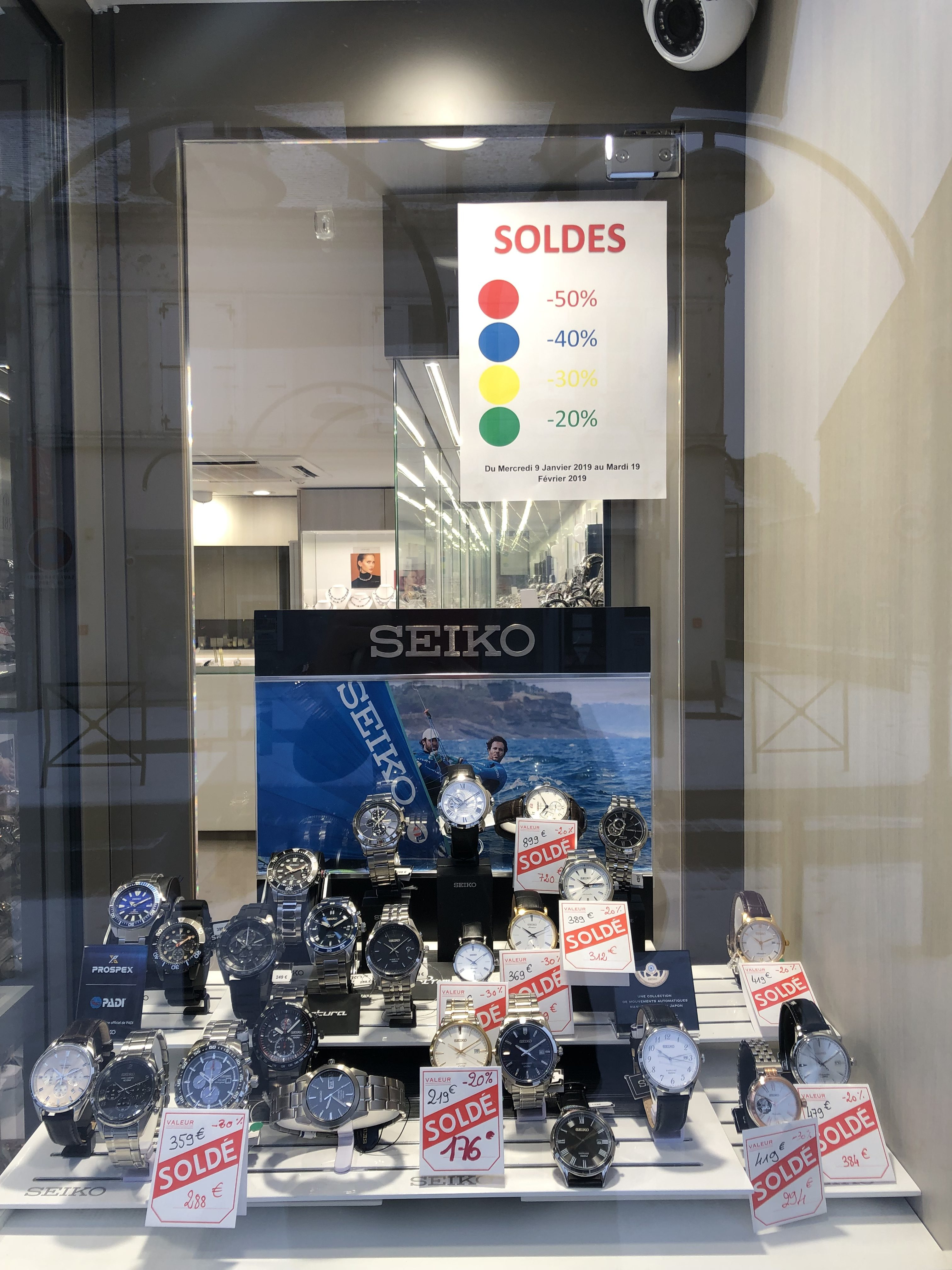 Remises sur les montres SEIKO.